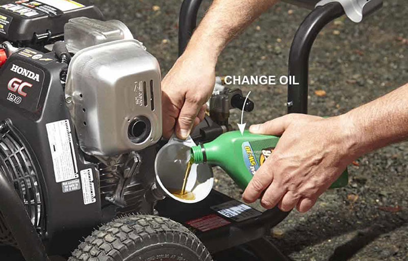 Changing Pressure Washer Pump Oil