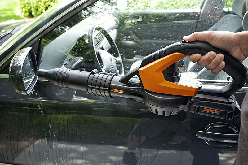 Drying Car with Leaf Blower