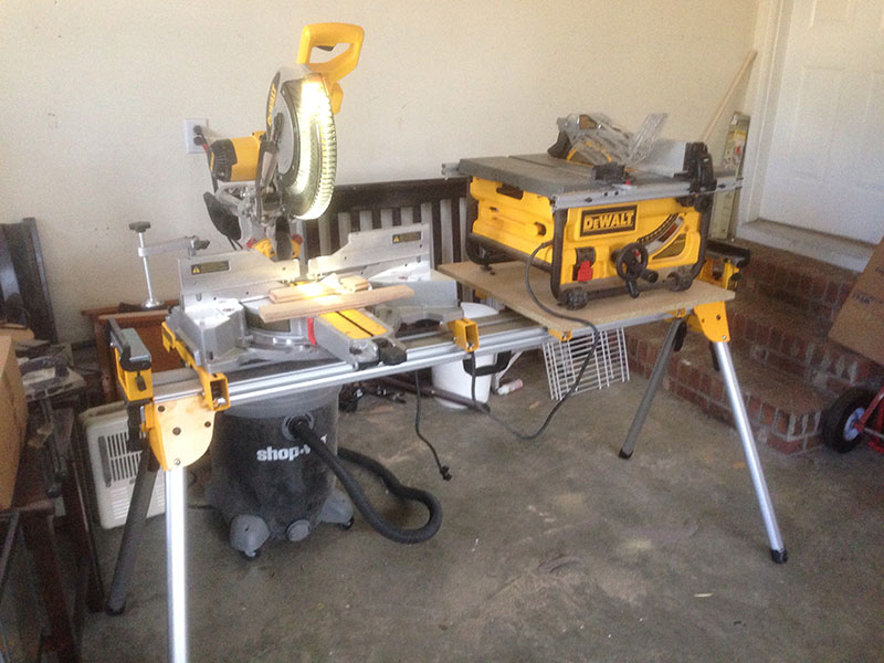 Miter Saw and Table Saw