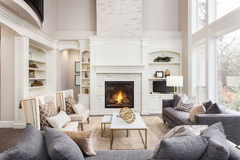 Large Room with Fireplace